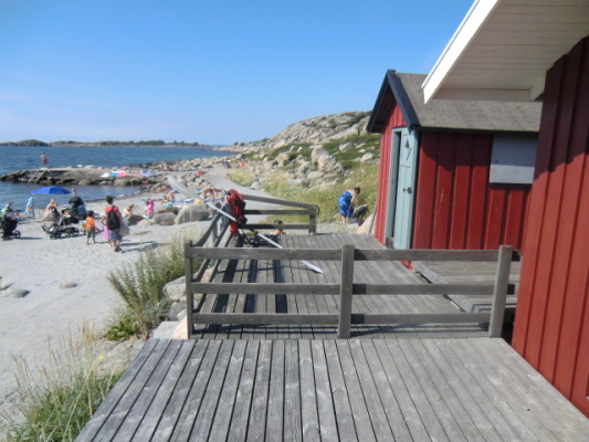 View summer - hut at the beach