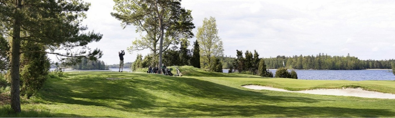 på sommaren - Naturskön golfbana i närheten!