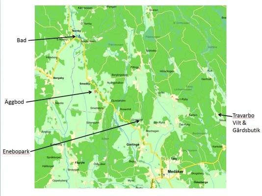 Omgivning - Karta över området