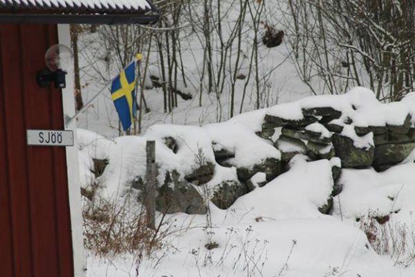 På vintern - Huset i vintertid