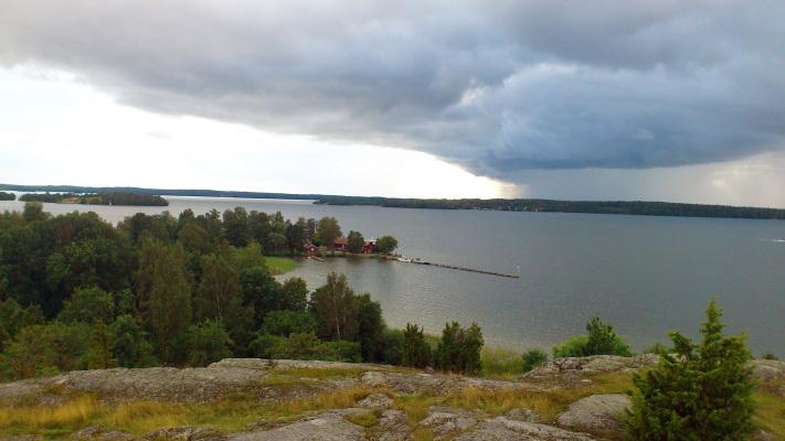 på vintern - Utsikt från Birka