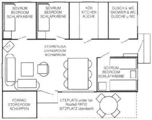 In house - ground plan