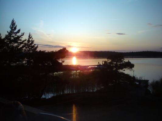 På sommaren - Solnedgång i väster