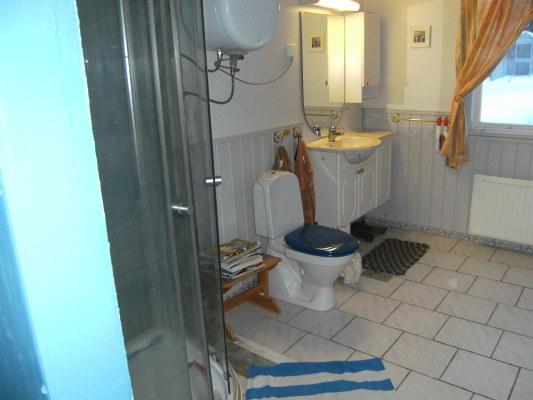 Badrum - Badrum med dusch, wc och tvätställ