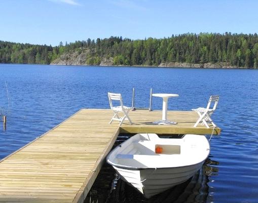 på sommaren - Egen privat båt/badbrygga
