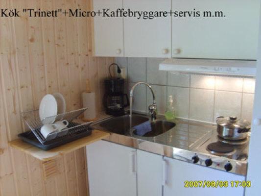 """Kök - kök, """"trinett"""" med all utrustning för 4 personer"""