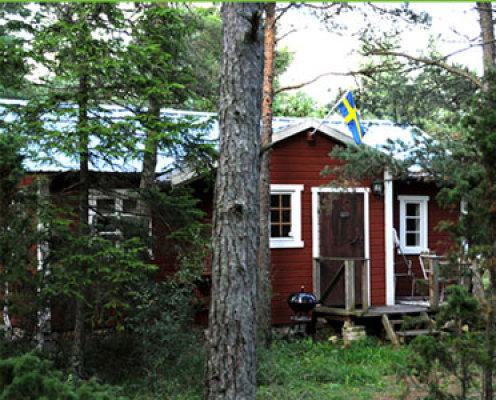 View summer - holiday hut