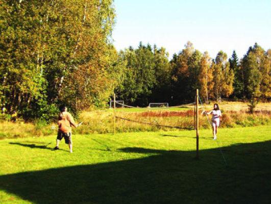 Utomhus - badminton