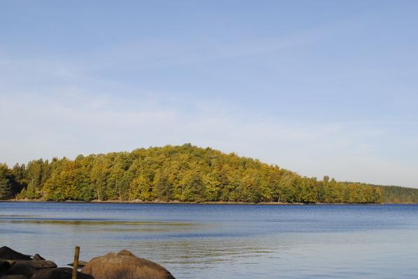 Omgivning - sjön Raslången, 250 m