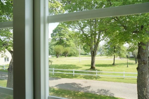 på sommaren - Utsikt från sovrummet