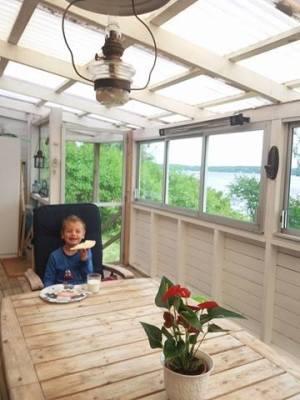 Terrass - Stor inglasad veranda