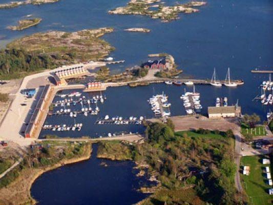 Övrig - flygfoto över hamnen