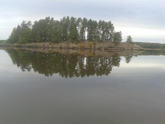 på sommaren - Vacker kväll på sjön!