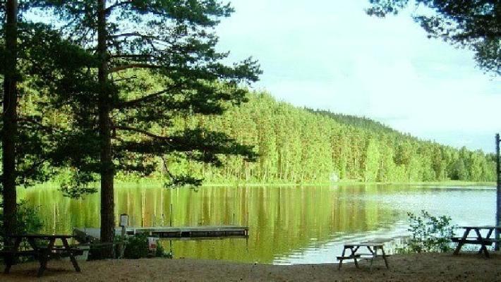 på sommaren - Badplats sjö Tången