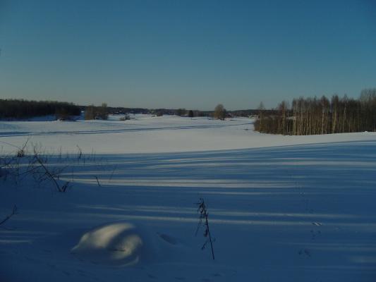 på vintern - Utsikten sträcker sig långt.