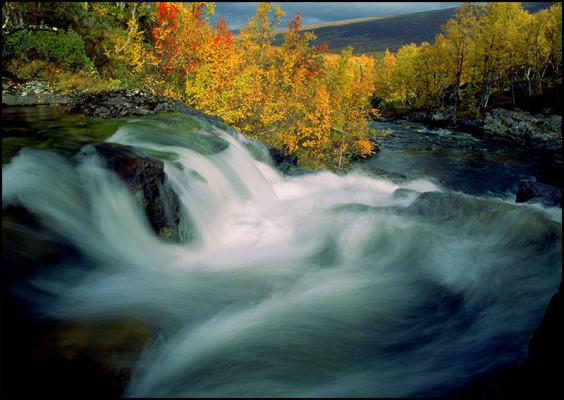 På sommaren - vattenfall