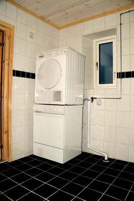 Badrum - tvättmaskin/tork