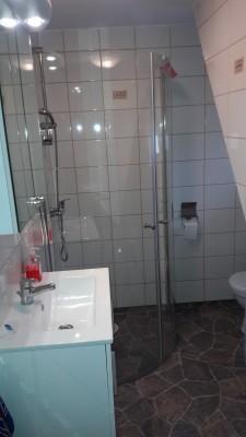 Badrum - Nytt badrum med dusch och WC.