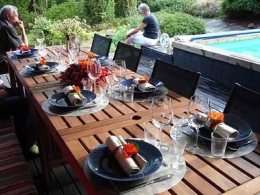 På sommaren - matplats utomhus