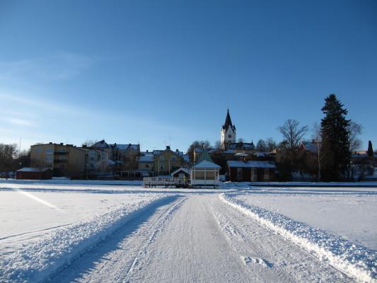 på vintern - omgivning i vinter