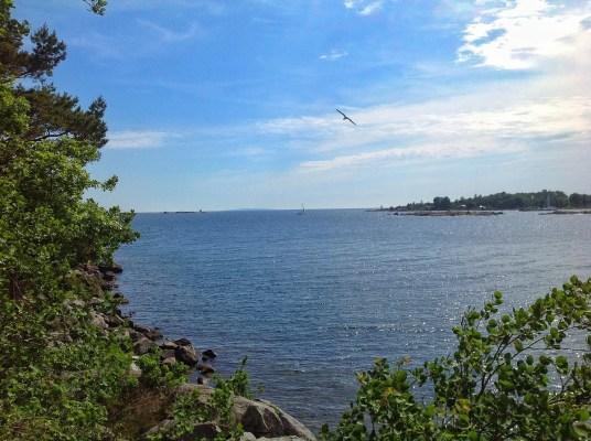 på sommaren - havet vid Karlshamn 35km från stugan