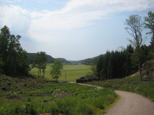 Omgivning - omgivning-utsikten över dalen