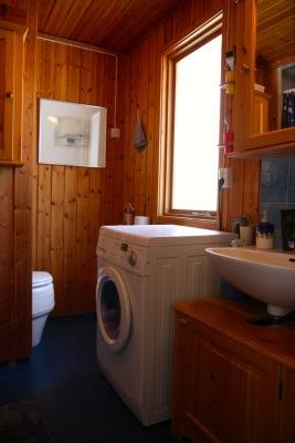 Badrum - Badrum med torrtoalett, dusch och tvättmaskin
