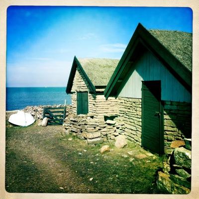 på sommaren - Bruddesta fiskeläge, ett fint mål på morgonpromenaden söderut.