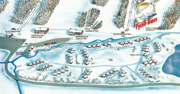 på vintern - områdetskarta