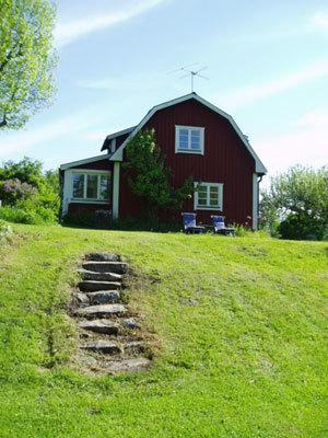 Utomhus - Huset från gaveln