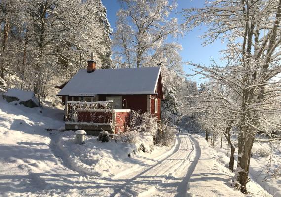 Ansicht Winter - 18th century cottage