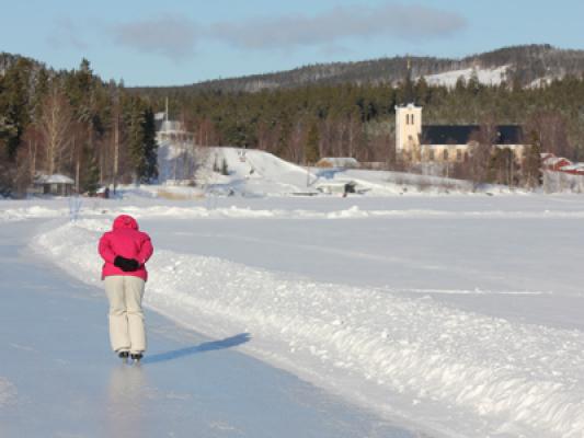 på vintern - Skridskoåkning