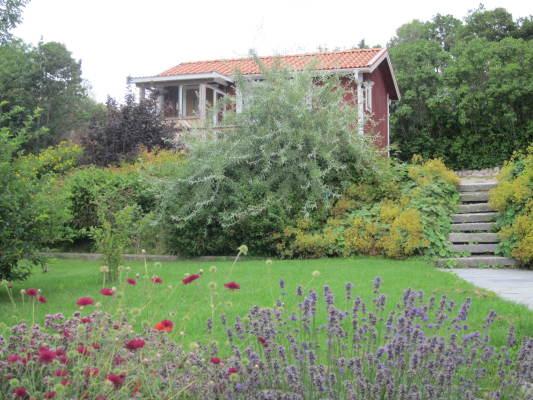 på sommaren - Huset från trädgården