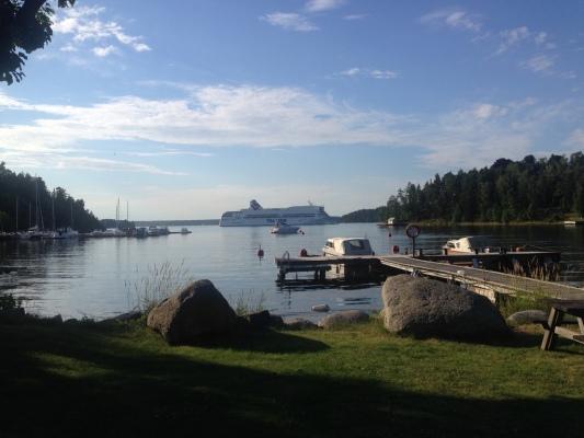 Övrig - Se båtarna passera från den närliggande stranden (100m)
