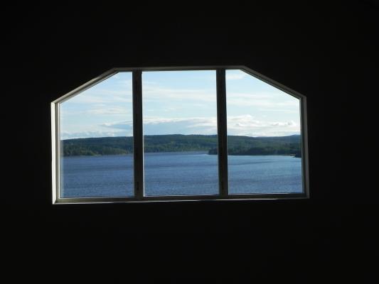 Sovrum - utsikten från sovrummet på övervåningen