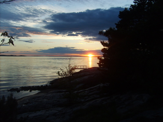 på sommaren - Praktfull solnedgång
