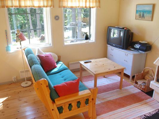 Vardagsrum - Allrummet i stugan